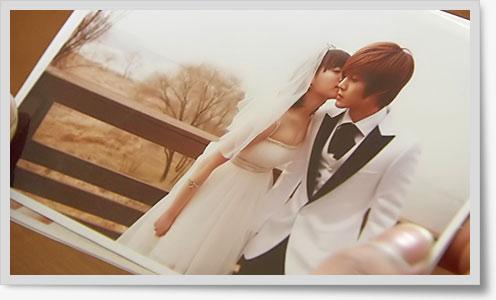 花より男子韓国版ジフ&チャンディ ウェディング画像